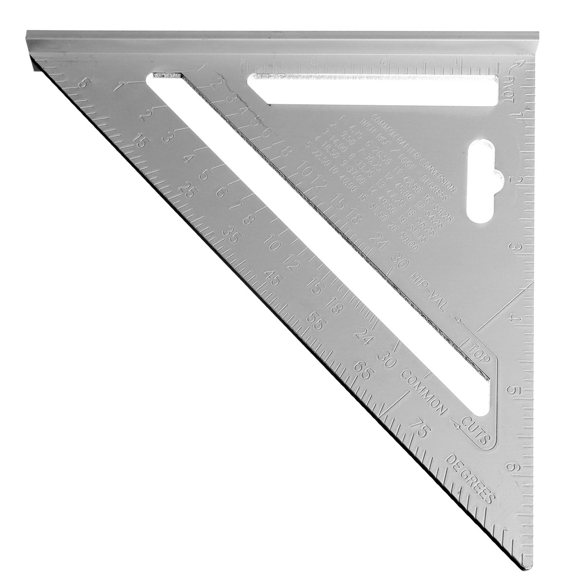 7inch Silver Aluminum Alloy Speed Square Roofing Triangle Angle Protractor Try Square Carpenter's Measuring