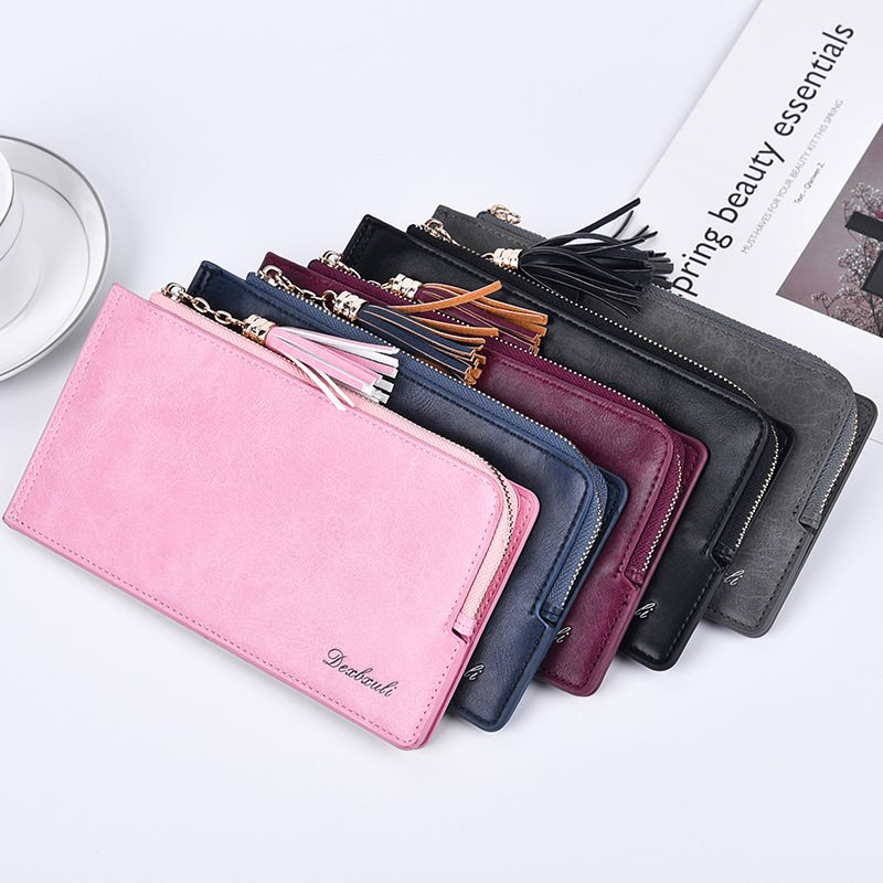 Women Retro Mulri-slots 13 Card Slots Long Wallet