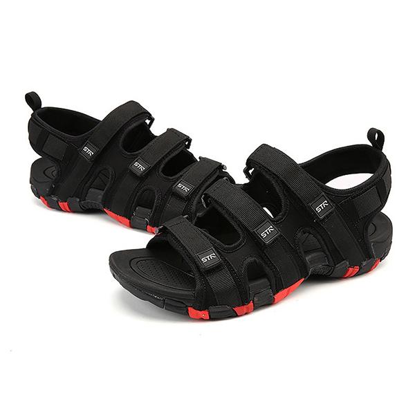 Men Comfy Breathable Adjustable Band Hook Loop Sandals