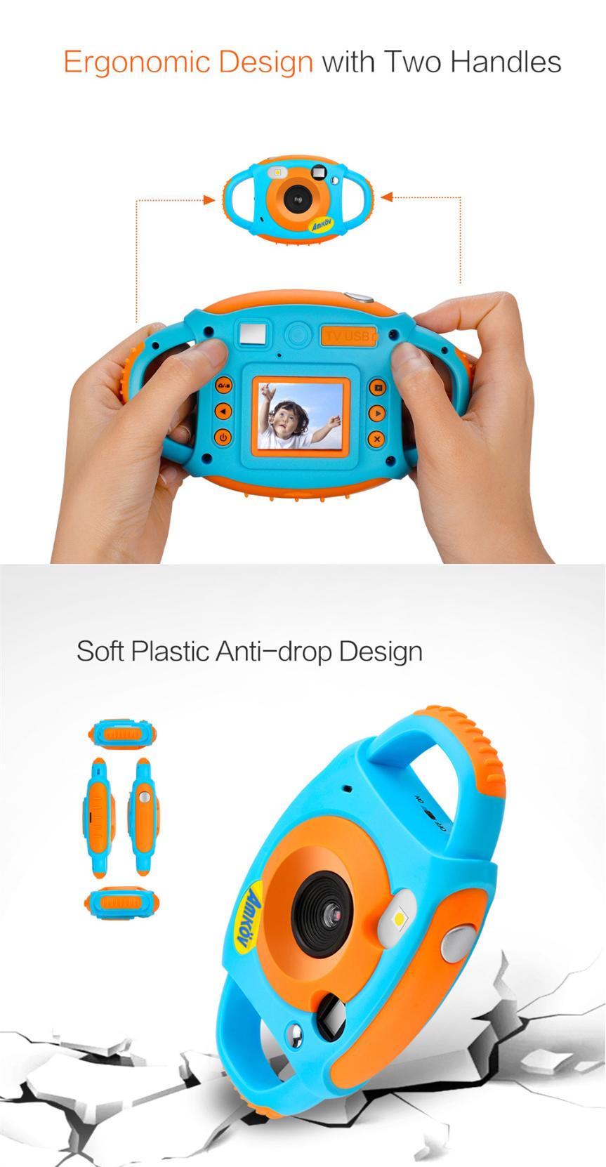 Amkov FP+ 1.77 Inch HD Color Screen 5MP Self-Portrait Mirror Design Mini Children Kid Camera