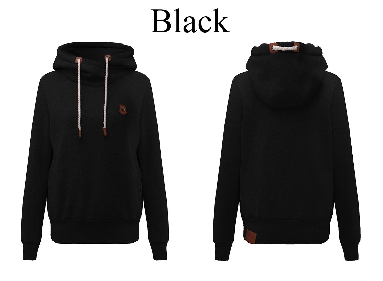 Casual Women Hooded Pockets Long Sleeve Sweatshirt