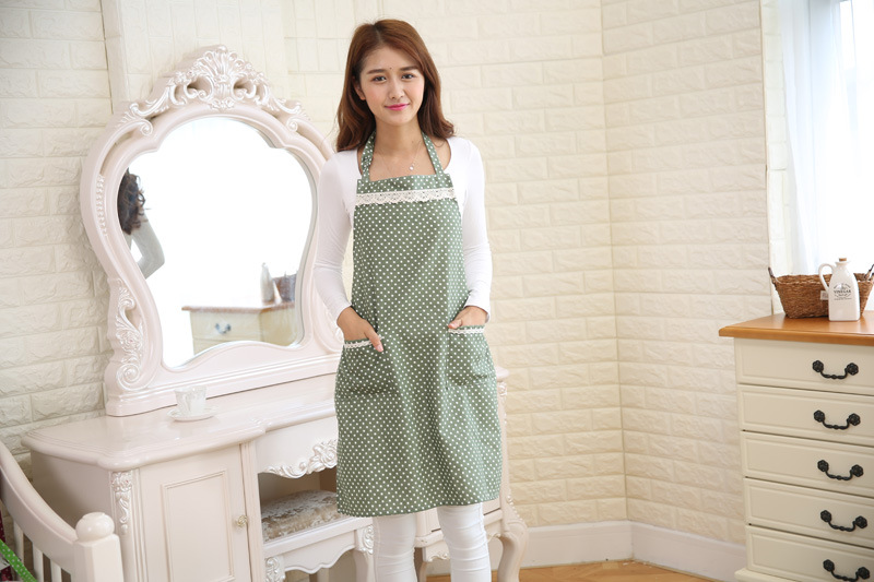 Honana KT-AP1 Adjustable Large Size Bib Apron Kitchen Cooking Woman Man Stripe Linen Apron With Pocket