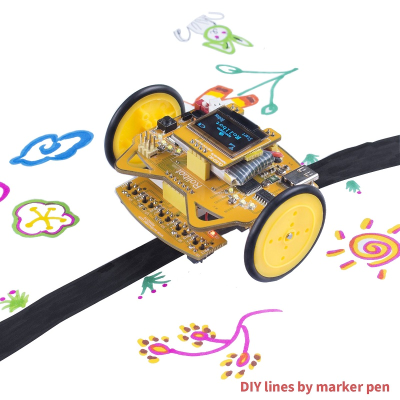 SunFounder RollbotMicro Infrared Sensor OLED Educational Robotics Car Kit GUI-Mixly for Arduino