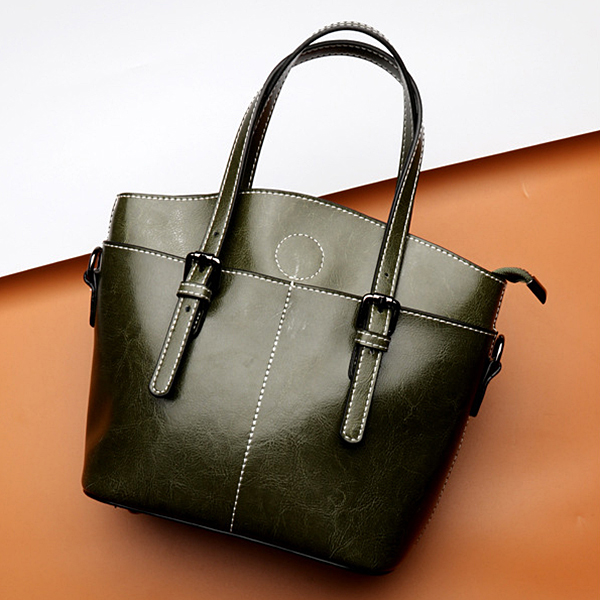 Female Cool Leather Bags Large Capacity Handbags