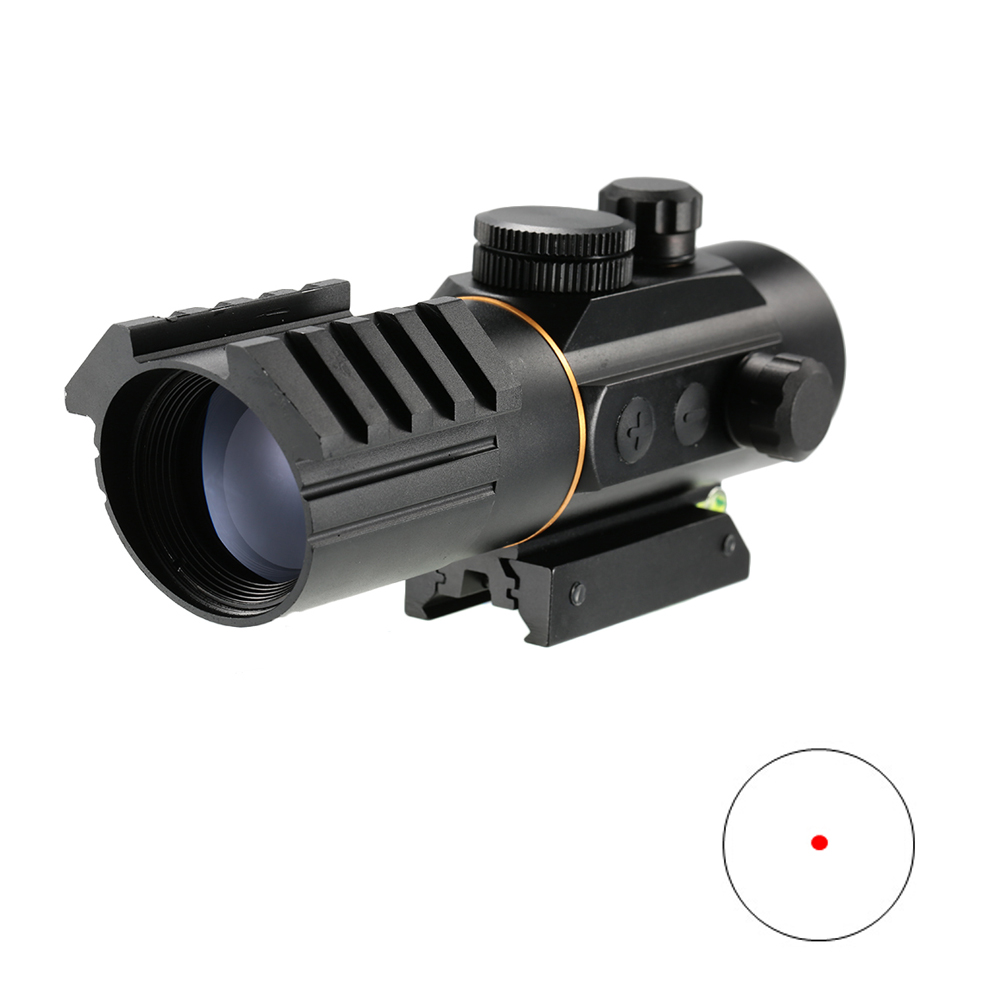 AURKTECH Hunting 5 Level Tactical 3X42 Red Dot Sight Scope Fit Rail Mount for 20mm