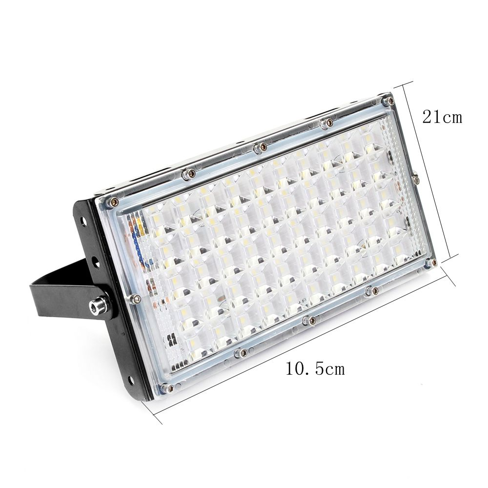 50W Black Shell LED Flood Light Waterproof White Light Landscape Garden Lamp for Outdoor AC185-265V
