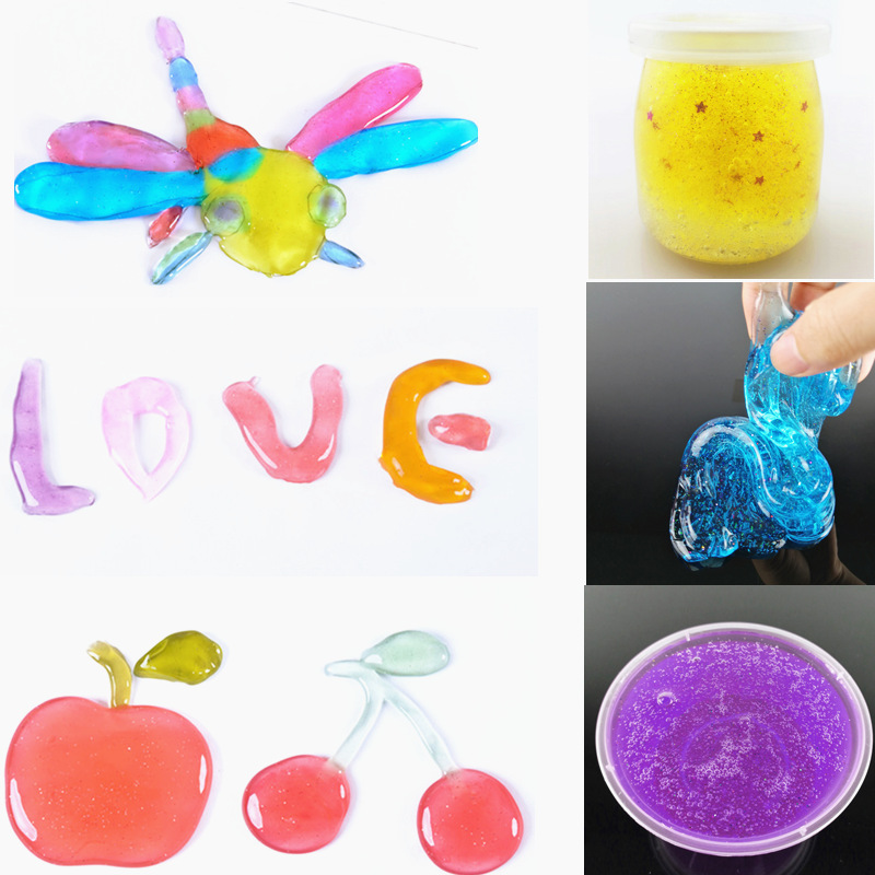 Crystal Mud Transparent Color Mud Clay Non-toxic Children Silly Putty Safty Health Slime Toy