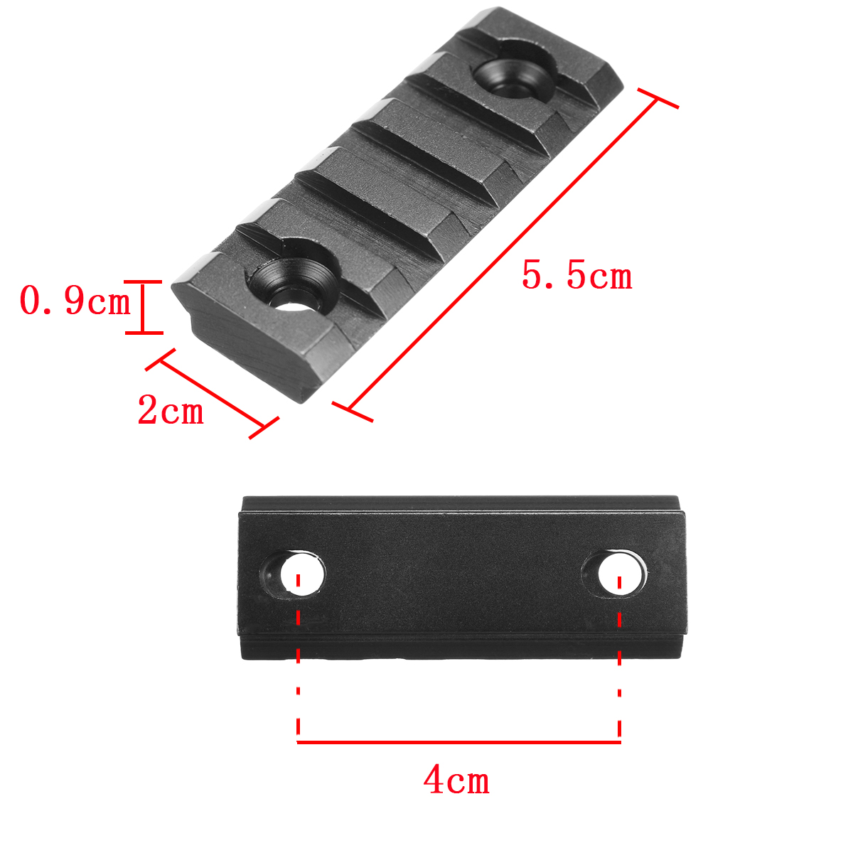 2.17 inch Keymod 5 Slot Black Matte Picatinny Weaver Rail Handguard Section