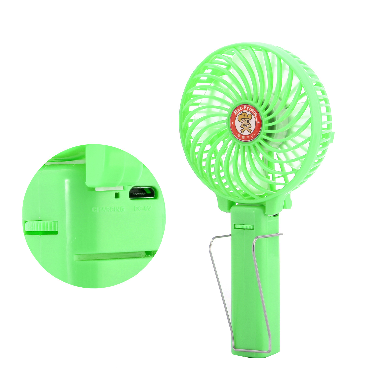 Hat Prince Repeatable Charging Portable Small Hand Holding Clip Fan