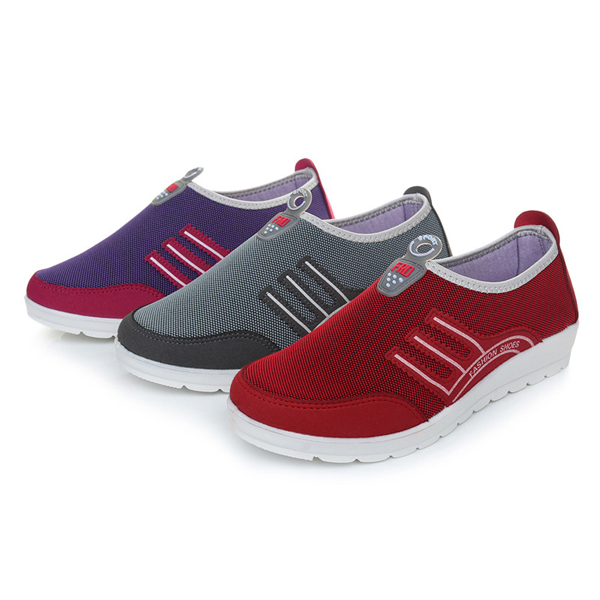 Women Mesh Breathable Casual Flat Sport Running Outdoor Athletic Shoes
