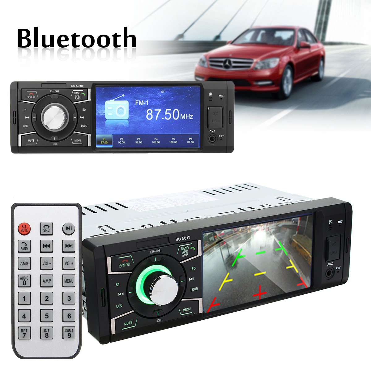 4.1inch Screen Car Auto Stereo Audio MP5 MP4 MP3 Player bluetooth AUX FM Radio
