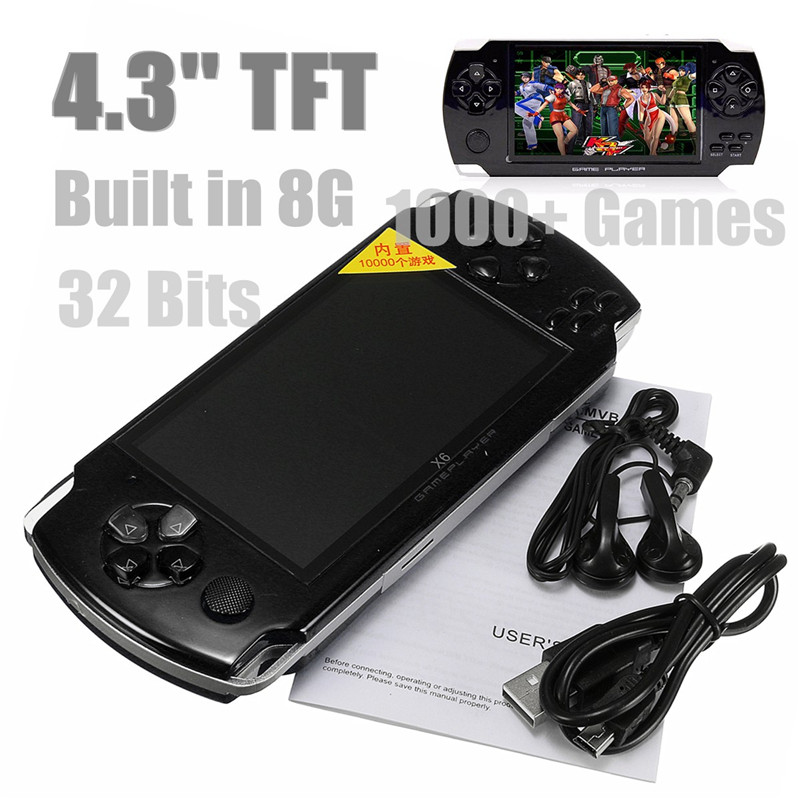 4.3inch HD Screen 8G 32 Bit Portable Handheld Game Console Player 10000+ Retro Games