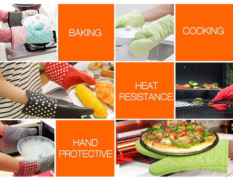 KCASA KC-PG01 1 Pc Microwave Heat Resistant Pot Holder Gloves BBQ Baking Cooking Tools