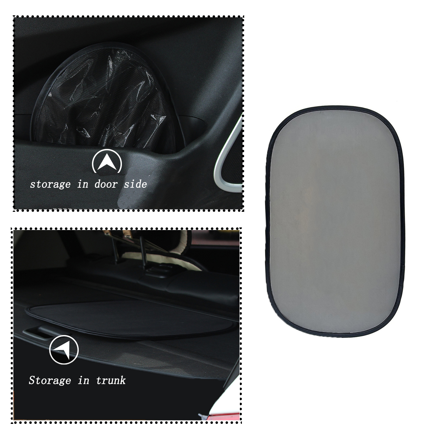 4Pcs 50x30cm Car Electrostatic Adsorption Window Shade Wind Shield Visor Car Sunshades Sunscreen