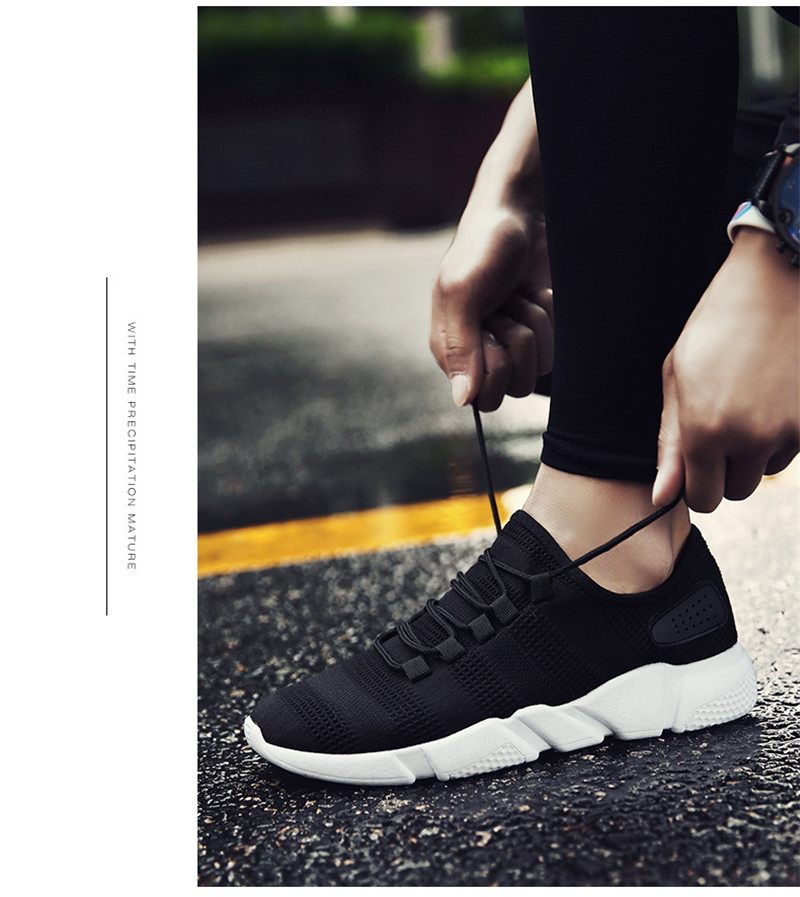 Men Sneakers Casual Sports Running Shoes Light Weight Soft Breathable Mesh