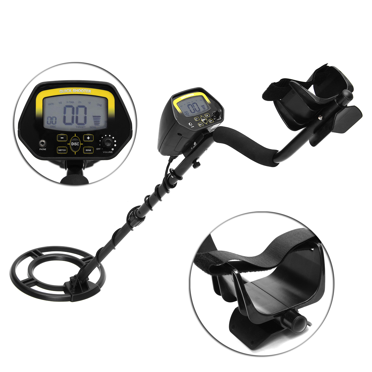 GC1032 LCD Display Waterproof Metal Detector Gold Coin