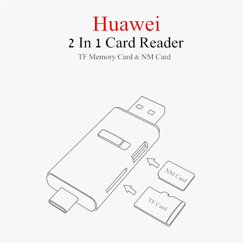 Original Huawei Type-c OTG USB 3.1 Gen 1 TF Memory Card NM Card Reader for Mobile Phone Tablet PC