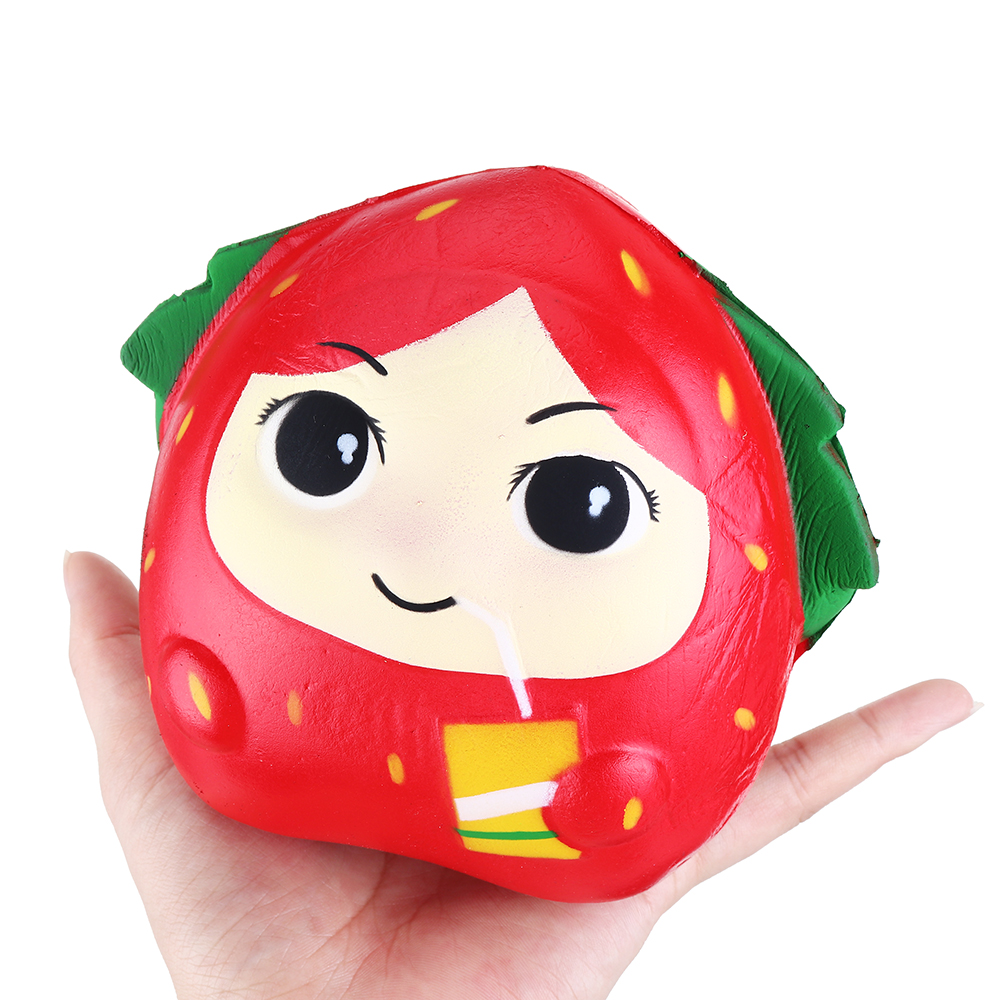Squishy Strawberry Girl 13CM Slow Rising Rebound Toys With Packaging Gift Decor