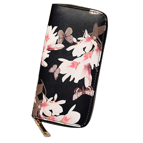Description Item Type Wallet Material PU Leather Color Black, Pink, Blue,White Weight 150g Length 19cm (7.48'') Height 10cm (3.94'') Width 2cm (0.79'') Pattern Solid Capacity 8 Card Holder, 2 Cash Place, 1 Phone Place, 1 Zipper Coin Place Closure Zipper P #purse