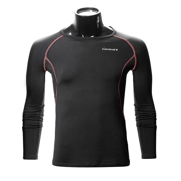 Men Compression Long Sleeve Tight Shirt Base Layer Thermal Racing Gym Sports