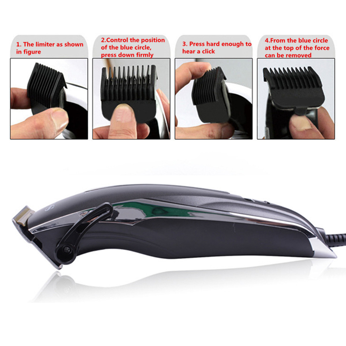 SURKER Rechargeable Hair Clipper Trimmer Beard Shaver