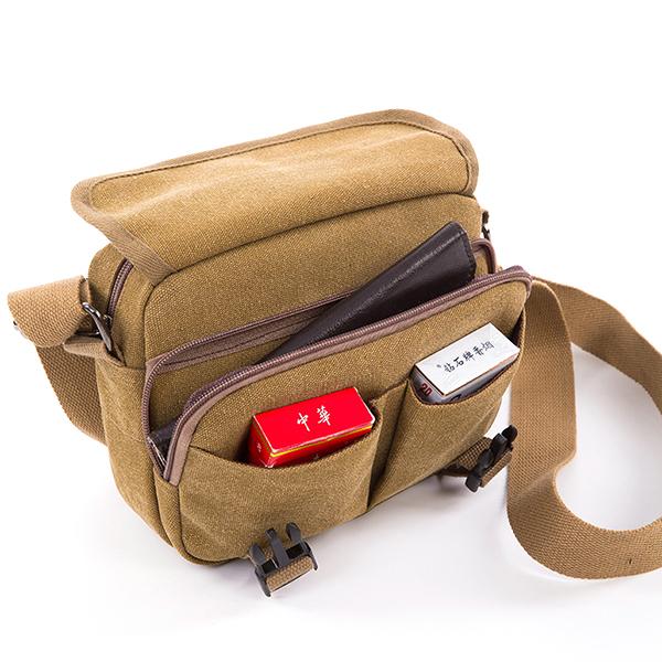 Vintage Canvas Casual Shoulder Bag Crossbody Bag For Men