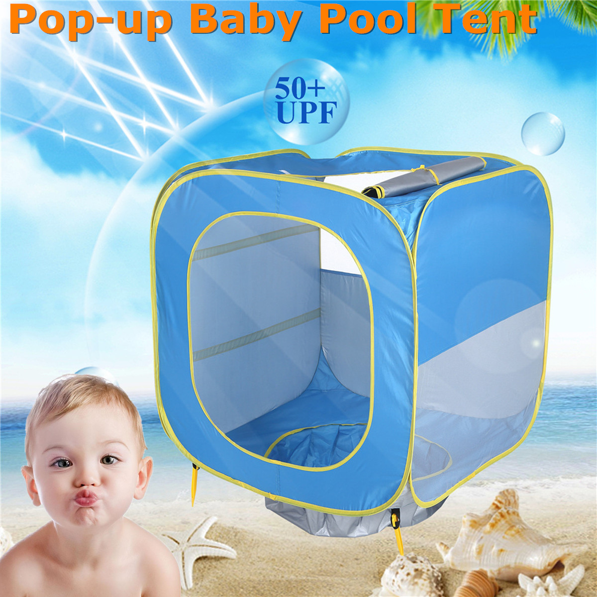 Baby Beach Paly Tent Pop Up Kids Portable Shade Pool For Children UV Protection Sun Shelter