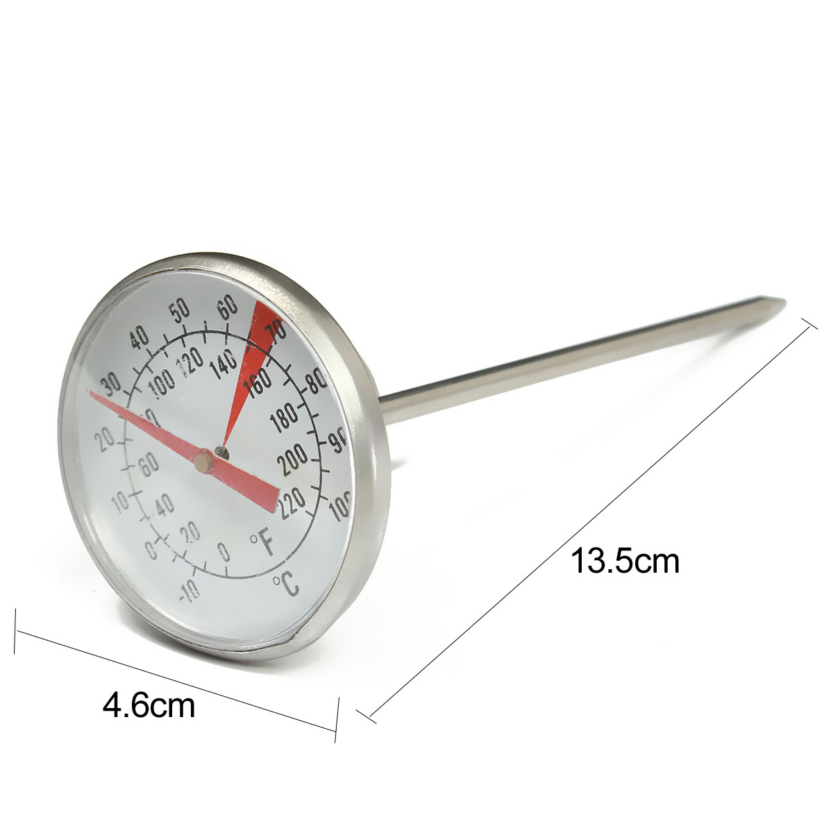 Stainless Steel Coffee Milk Frothing Candy Liqued Probe Thermometer Clip