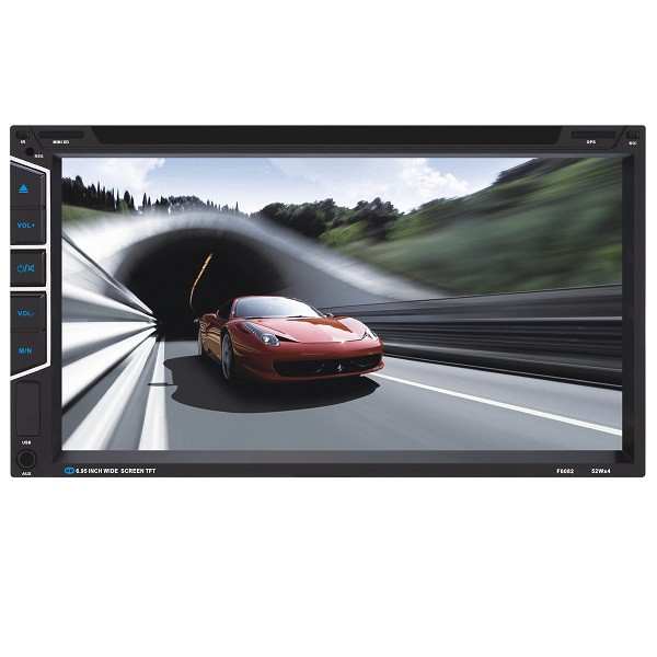 YT-F6082 6.95 inch Car DVD MP3 MP4 Player Digital Touch TFT Screen fit Big USB SD MMC Card
