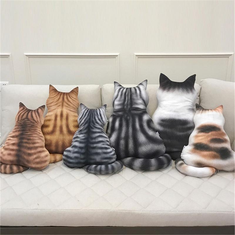 3D Кот Подушка Плюшевые игрушки Куклы Фаршированная подушка для животных Главная Декоративная творческая подушка для подарка на день ро