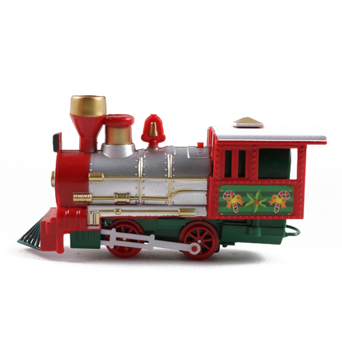 Bộ Đồ Chơi Xe Lửa Giáng Sinh Với Âm Nhạc Locomotive Model Toys Quà Tặng Trẻ Em