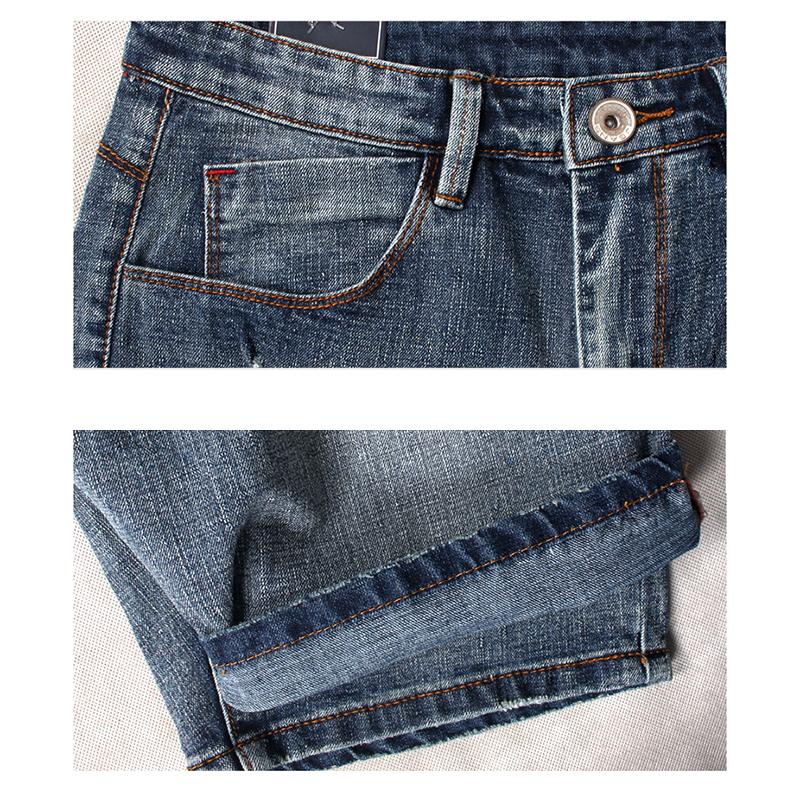 Mens Vintage Holes Summer Fashion Denim Shorts Casual Jeans