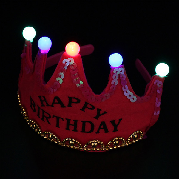LED Birthday Crown Hair Band Kids Toy Birthday Holiday Stage Performance Decoration