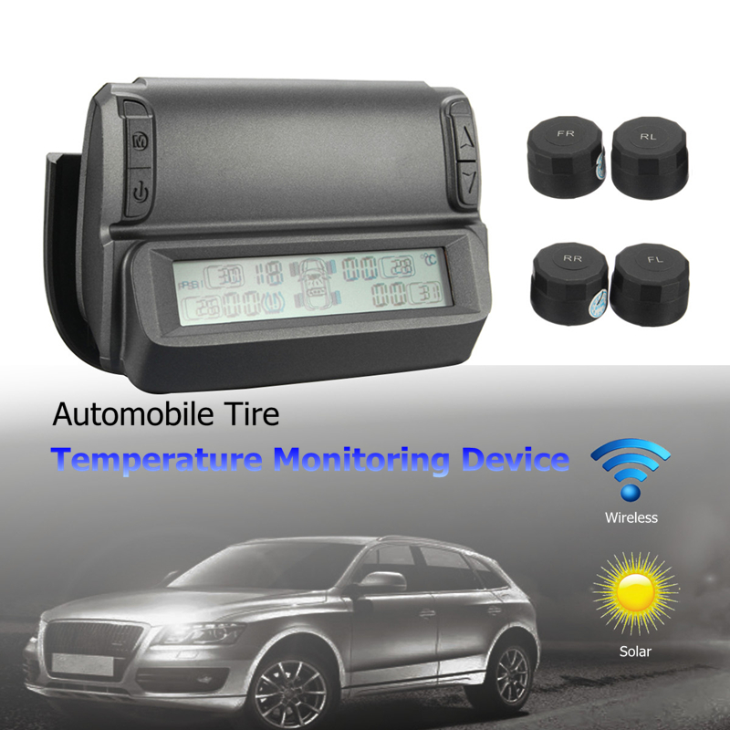 Wireless Solar Automobile Vehicle Tire Temperature Monitoring Pressure Devices