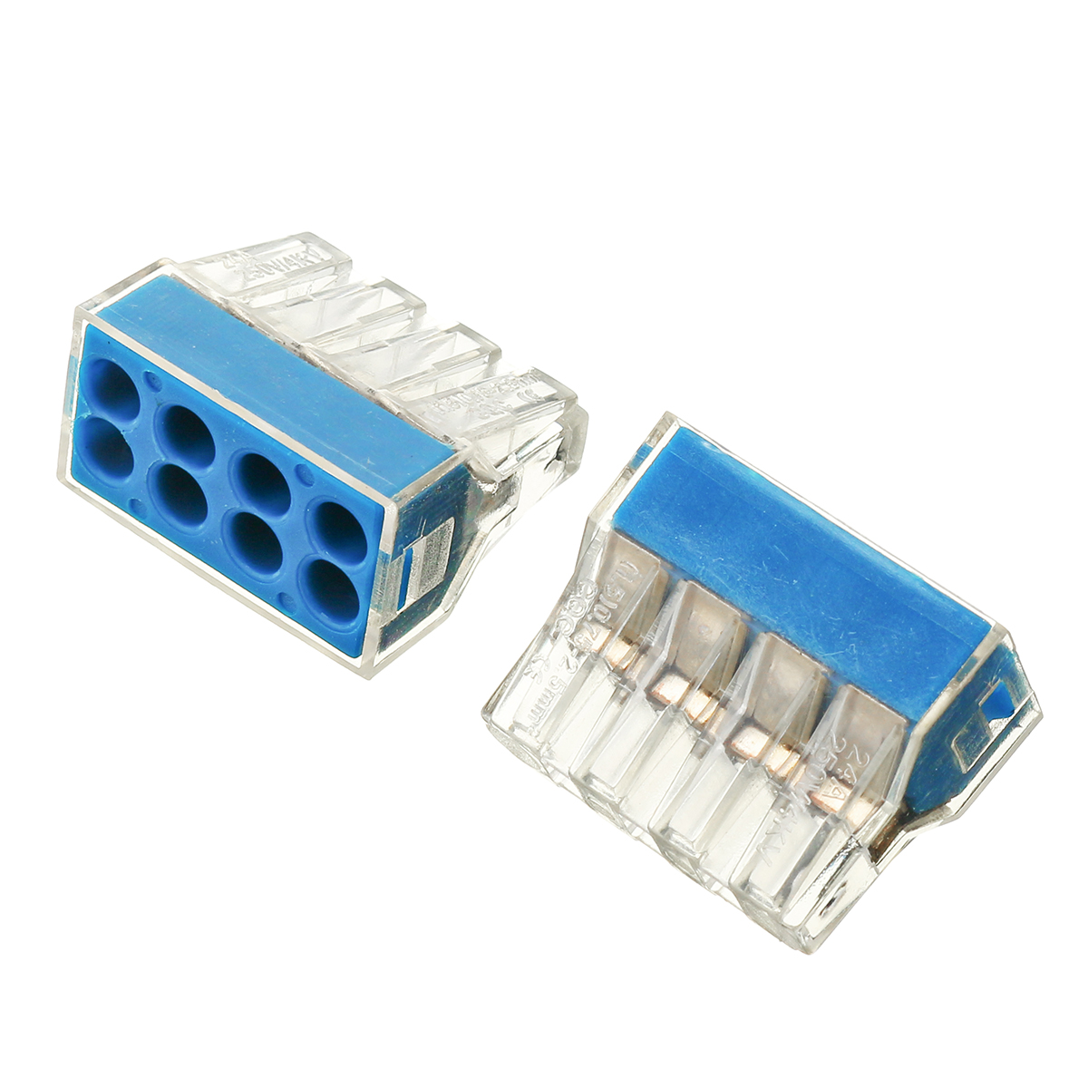 10Pcs 8 Holes Universal Compact Terminal Block Electric Cable Wire Connector