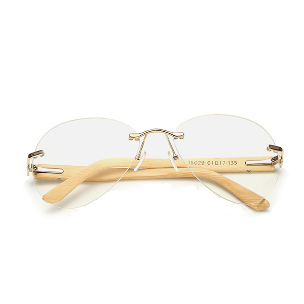 Men Women Anti-UV Retro Sunglasses Outdoor Sport Bamboo Legs Big Frame Goggle Eyeglasses