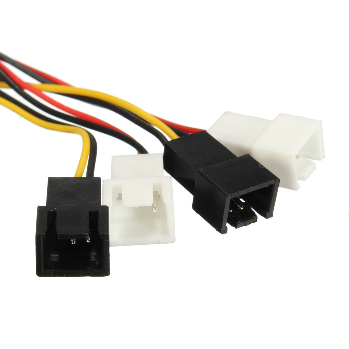 Excellway® 4 x 2Pin Fans to D type 4Pin Molex Power Y-Splitter Cable 12v/5v For PC fans