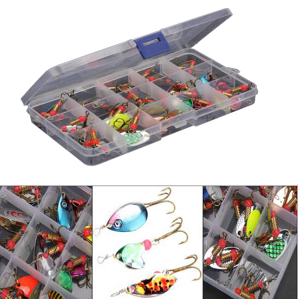 ZANLURE 30pcs/lot Colorful Tront Spoon Metal Fishing Lu