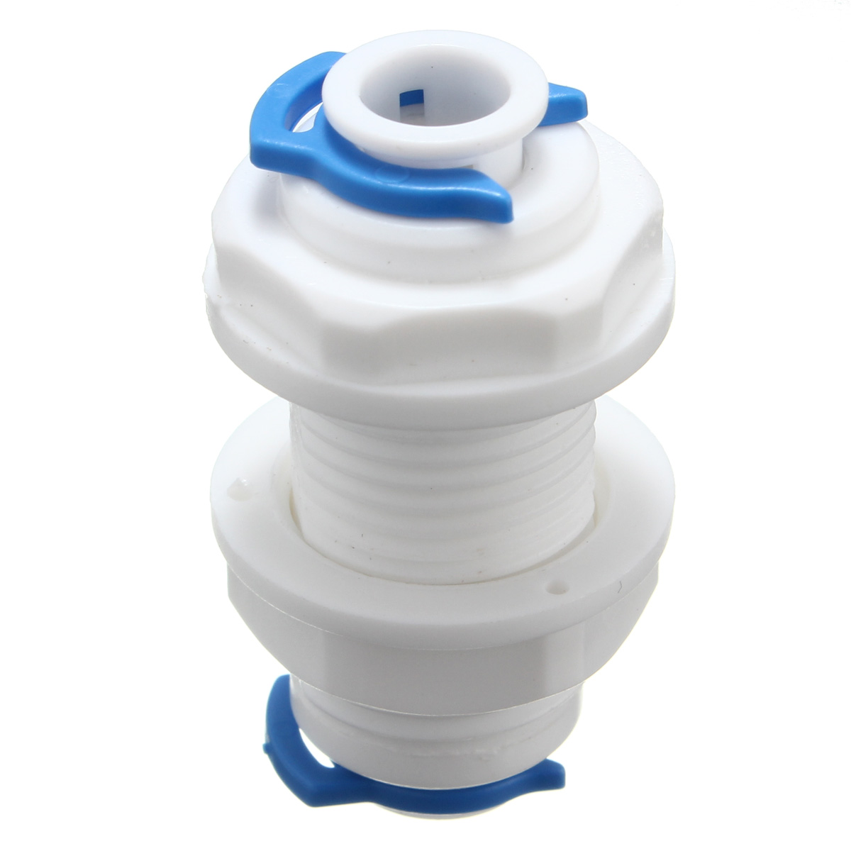 Adapter 1/4 Water Purifier Connector Reverse Osmosis System Part with 2 Clasps
