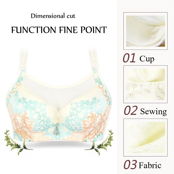 Floral Printed Full Figure Women Cami Bras