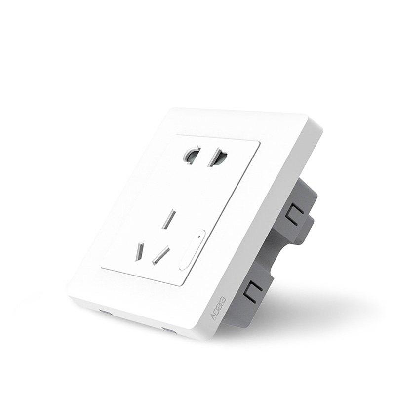 Xiaomi Aqara Smart Wall Socket ZiGBee Light Control Switch APP Wireless Remote Control Plug