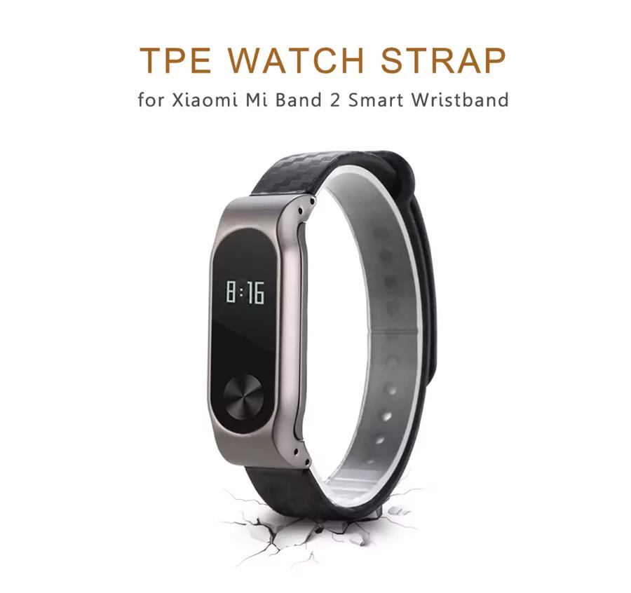 Replacement Classic TPE Slim Design Wrist Strap for XIAOMI Miband 2