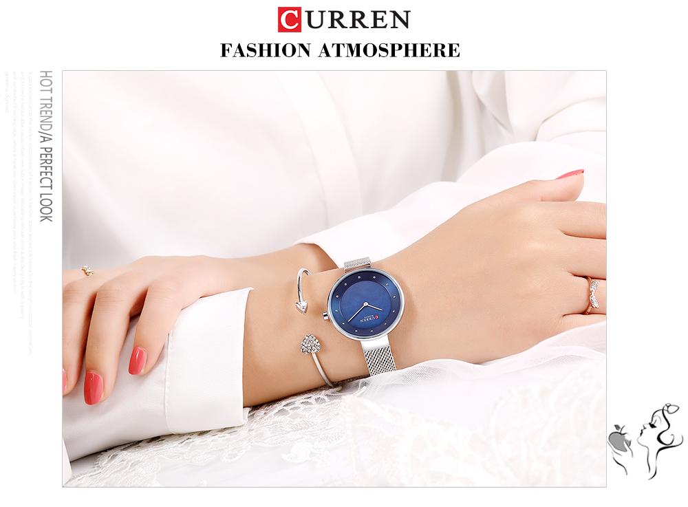 CURREN 9032 Unique Dial Design Elegant Women Wrist Watch