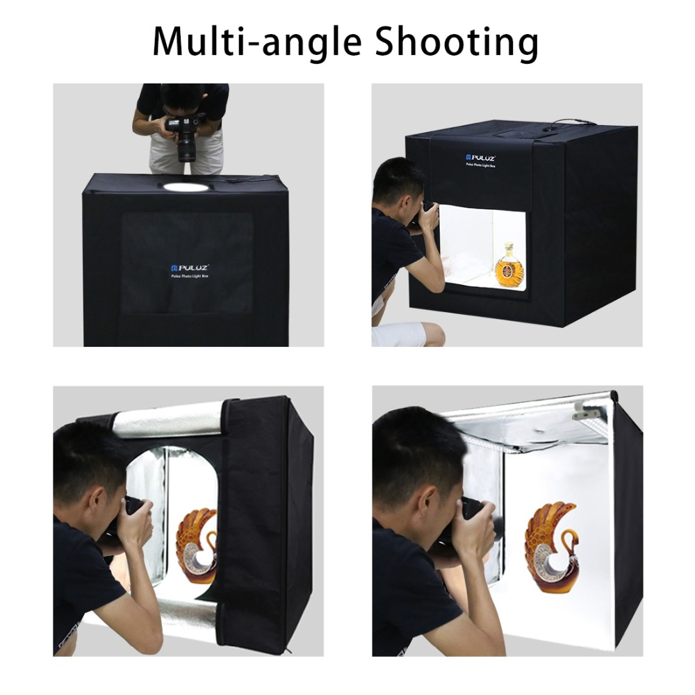 Other Photo Video Puluz Pu5080 80cm 5500lm 5500k 80w White Light Tent Shed Cube Softbox With 4 Colored Background 80 X 1 Package Bag