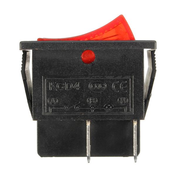 15A 250VAC 20A 125VAC Rectangle Switch 4 Pin On/Off Rocker Switch