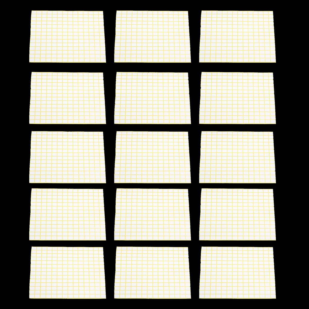 196Pcs/Sheet Blank Sticky Labels 9 x13MM White Price Stickers Tags 15 Sheets
