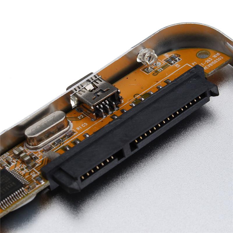 Silver USB 2.0 SATA External 2.5