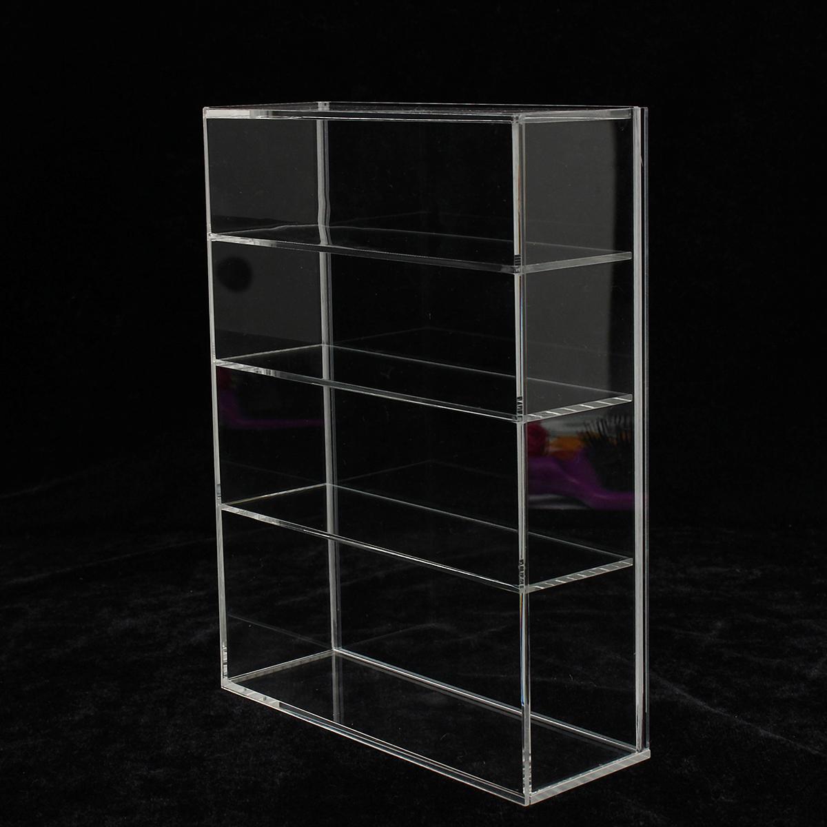 214 x 159 x 59mm Four-layer Acrylic Display Box Show Case Sliding Door For Mini Perfume Bottle