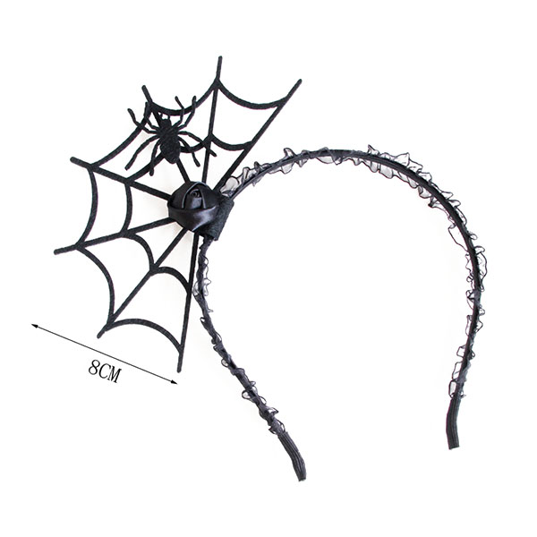 Halloween Party Spider Web Headbrands Toys Gothic Punk Girl Tiara Fashion Lace Hair Ornaments