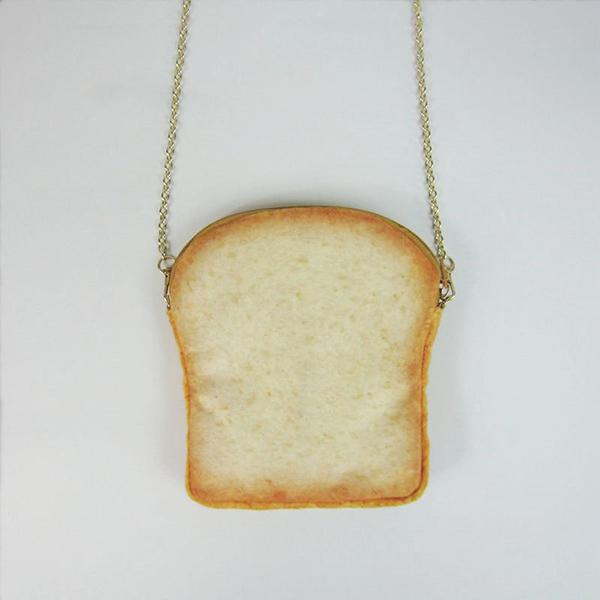 Plush Toast Cartoon Lovely Cute Chain Shoulder Bags